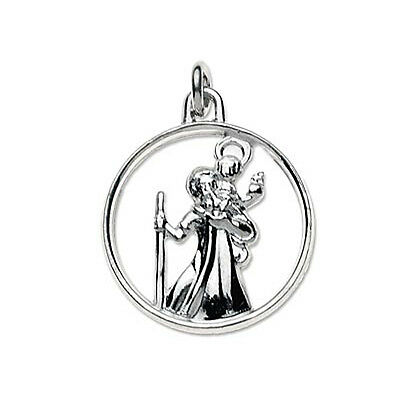 NEW Sterling Silver St Christopher / Optional Chain 18 x 18 mm Quality UK 925 HM