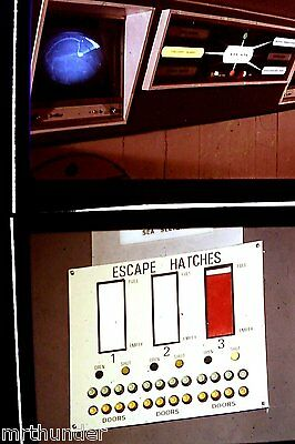 Gerry Anderson's UFO 16mm Colour Film Half Frames - SHADO Computer Panels x 2