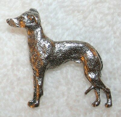 ITALIAN GREYHOUND Grey Hound Dog Fine PEWTER PIN Jewelry Art USA Made