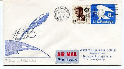 1972 Astro Kurier E. Colle Telesat A Kennedy Space Center U.S. POSTAGE SIGNED