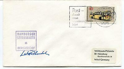 1973 Hamburger Sternwarte Bergedorf Berlin West Germany SIGNED SPACE SAT