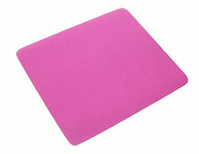 Pink Quality Mouse Mat Pad Foam Backed Fabric - 245mm x 220mm x 5mm Thick New