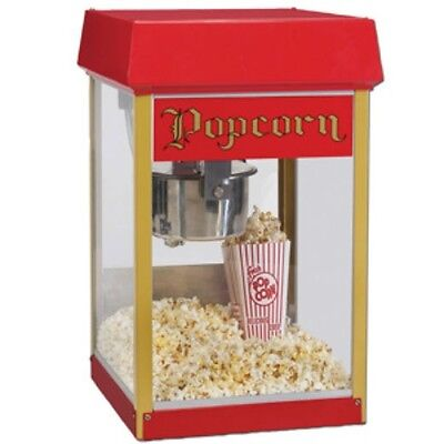 Popcorn machine gold medal usa 240v  8 oz every 3 mins  in built bottom warmer