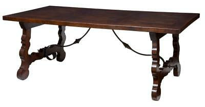 19Th Century French Spanish Influenced Oak Refectory Table