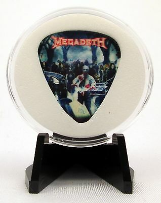Megadeth 2013 Guitar Pick With MADE IN USA Display Case & Easel