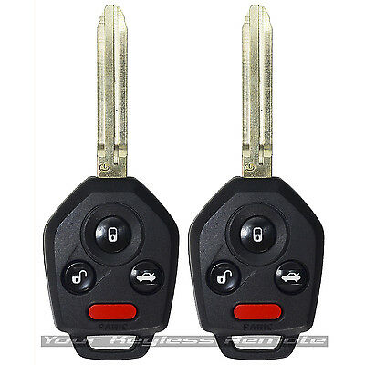 2 Remote Head Combo Key Keyless Fob Uncut Blade For Impreza XV Forster G Chip