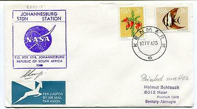 1975 Johannesburg STDN Station Repuclib South Africa Kenmare SPACE NASA SIGNED