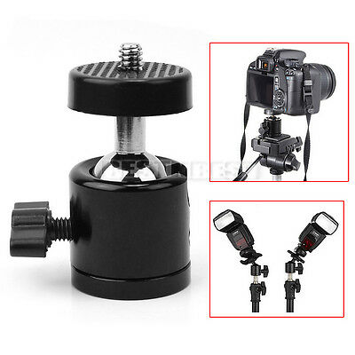 Mini Tête Rotule 360°Ball Head Trépied Support Caméra Appareil Photo DSLR  1/4""