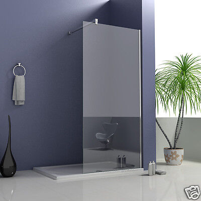 760x1850mm Shower Enclosure Walk In Wet Room Cubicle Screen 6mm Glass Panel V2
