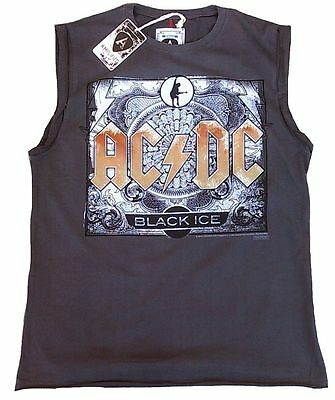 AMPLIFIED AC/DC ACDC Black Ice Rock Star Vintage Designer Tank T-Shirt g.S 46