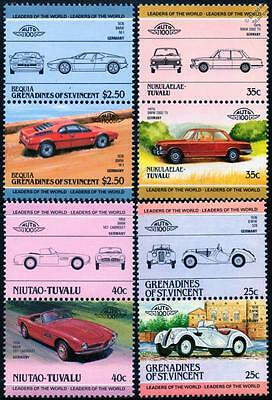 BMW Collection of 8 Car Stamps (Auto 100 / Leaders of the World)