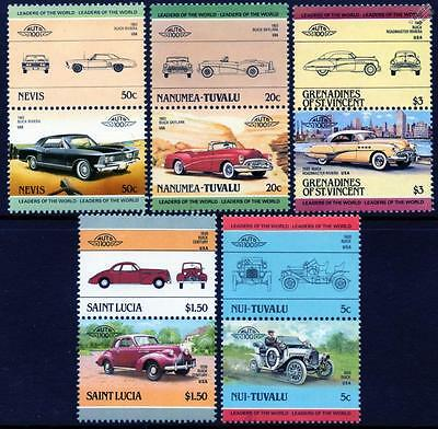 BUICK Collection of 10 Car Stamps (Auto 100 / Leaders of the World)