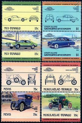 OLDSMOBILE Collection of 8 Car Stamps (Auto 100 / Leaders of the World)
