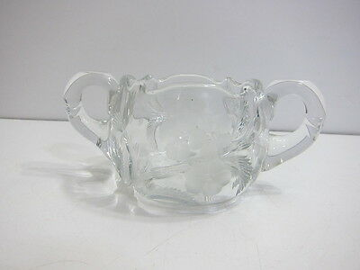 EARLY 1919 - 1930 LIBBY SUGAR GLASS CONTAINER WITH FLORAL DESIGN