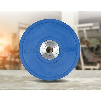20KG PRO Olympic Rubber Bumper Weight Plate MMA training Gym Exercise Lifting