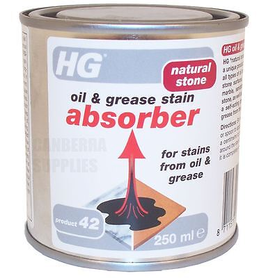 Hg Hagesan Natural Stone Oil & Grease Stain Absorber Remover Cleaner - 250Ml