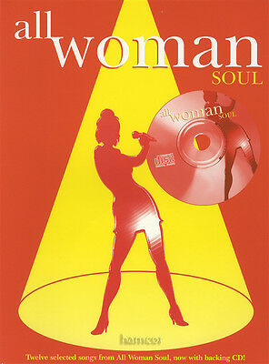 All Woman Soul Piano Vocal Guitar Sheet Music Book & Backing Tracks CD