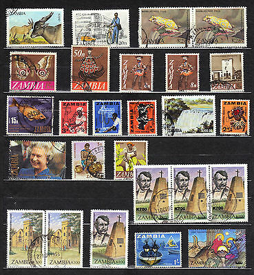 ZAMBIA Used STAMP Collection REF:D382