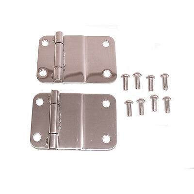 Smittybilt Tailgate Hinges Stainless Steel for Jeep CJ-7 1976-1985