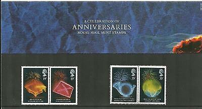 1989 Anniversaries Presentation Pack 198 SG1432 to SG1435 Royal Mail Mint nh