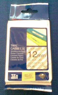 BROTHER P TOUCH TZ131 / TZe131 12MM BLACK/CLEAR TAPE CARTRIDGE