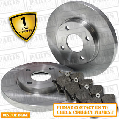 Fiat Grande Punto 1.2 64bhp Front Brake Pads & Discs 257mm Solid Bosch Sys