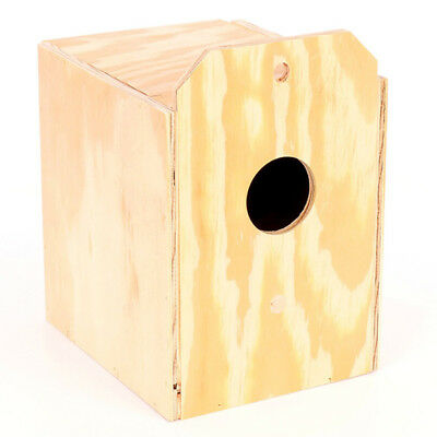 Ware Manufacturing Parakeet Natural Wood Reverse Nest Box - 6.5 x 8 x 9.5 Inch