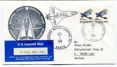 1993 Musgrave Covey Bowersox Akers Thornton Hoffman US Mail Insured Kennedy USA