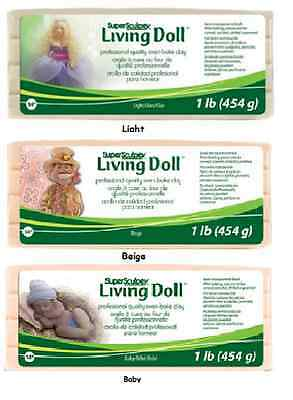 SCULPEY Living Doll Clay Polymer 1 lb CHOOSE Beige Light Baby