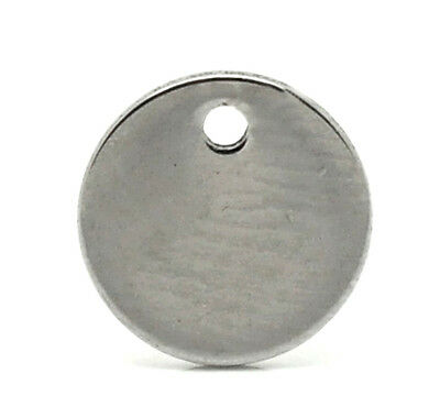5 x Silver Tone 304 Stainless Steel Coin Cabochon Settings 14x21.5mm Y01210