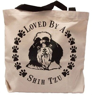 Loved By A Shih Tzu Tote Bag New  MADE IN USA