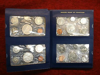 CANADA PROOF-LIKE SET COLLECTION 1965-1972 - VERY NICE - ATTRACTIVELY DISPLAYED