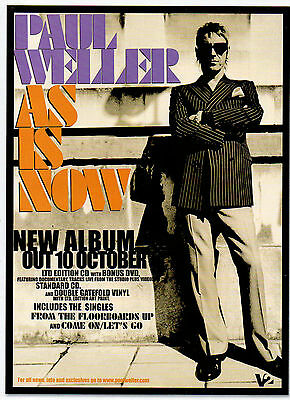 Paul Weller-2005 magazine advert