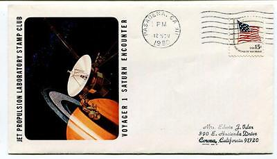 1980 Voyager 1 Saturn Ecountr Jet Propulsion Laboratory Stamp Club Pasadena USA