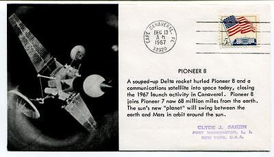 1967 Pioneer 8 Cape Canaveral Communications Satellite Sun Planet SPACE NASA USA