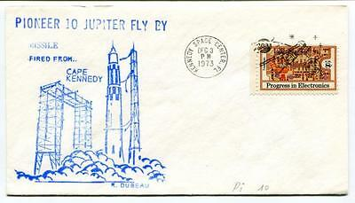 1973 Pioneer 10 Jupiter Fly By Missile Cape Kennedy Space Center NASA USA