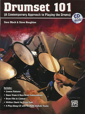 Drumset 101 Drum Music Book/CD Learn How to Play Beginner Method