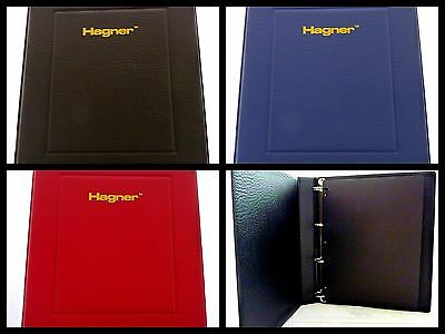 Hagner Luxury Padded Stamp Album Stockbook 4 Ring Binder Empty
