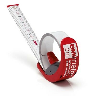 BMI Pocket Tape 429 BMImeter Quicky Tape 3m Metric Tape Measure Stainless Steel