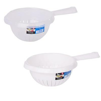 Quality Wham Plastic Handled Colander Strainer Kitchen Cooking Utensil 2 Colours
