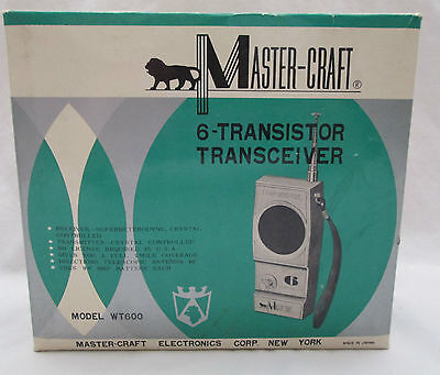 Vintage Master Craft 6 Transistor Transceiver Model WT600 in Original Box