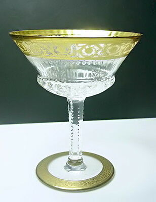 St Louis Crystal - France THISTLE Tall Sherbet/ Champagne Glass, Mint!