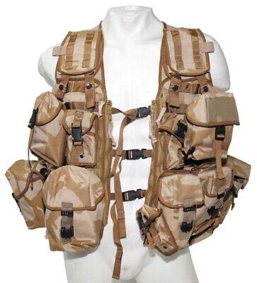 ORIG. WESTE BRITISH Load Carrying Molle Modular System Tactical Vest Army DPM BW