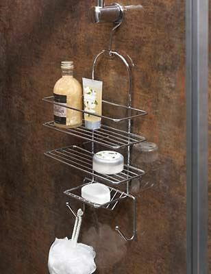 Supahome Hanging Bath Shower Rack Storage Hanger Chrome Plated
