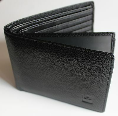 Mens Soft Leather Wallet Extra Capacity Bifold New