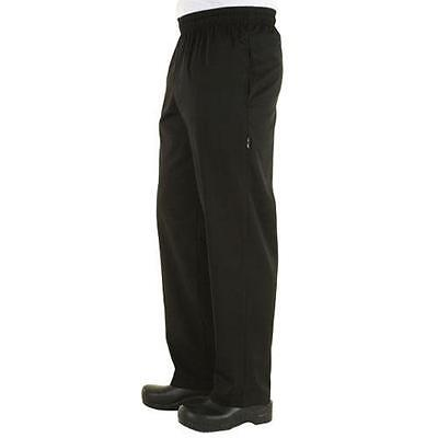 Chef Works - NBBZ-BLK-S - Black Baggy Chef Pants (S)