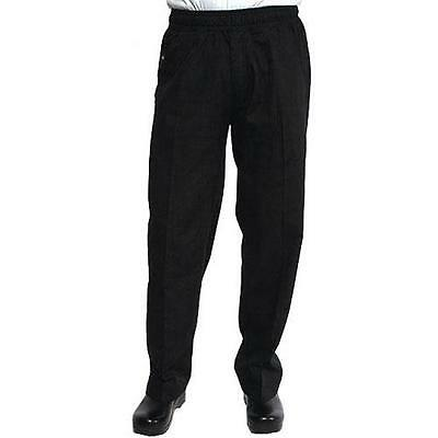 Chef Works - BSOL-BLK-S - Black Chef Pants (S)