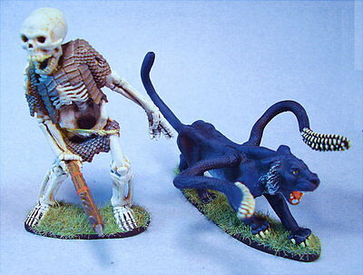 CLEARANCE miniatures (painted 15-30 years ago) Skeleton Giant  & Displacer Beast