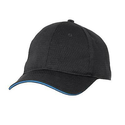 Chef Works - BCCT-BLU - Cool Vent Black/Blue Baseball Cap
