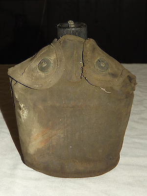 Vintage Wwii 1943 Us Army S M Co.canteen & Cover